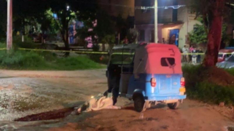 Gatilleros privan de la vida a un mototaxista con un balazo en la cabeza; tenía 19 años