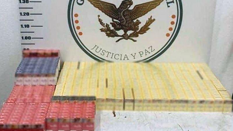 Guardia Nacional incauta 778 cajetillas de cigarros ilegales en el aeropuerto de Hermosillo