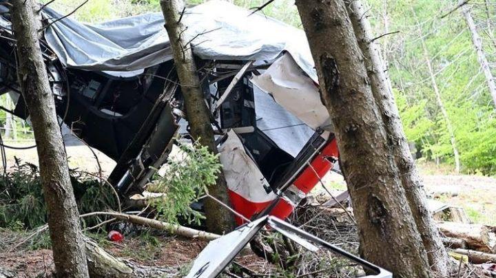 Muestran en FUERTES VIDEOS la caída de teleférico en Italia que dejó a 14 personas muertas