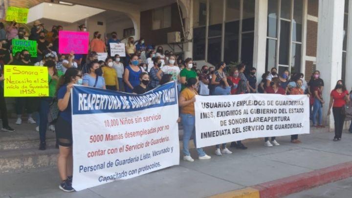 Empleados y padres de guarderías de Navojoa piden la reapertura de las estancias