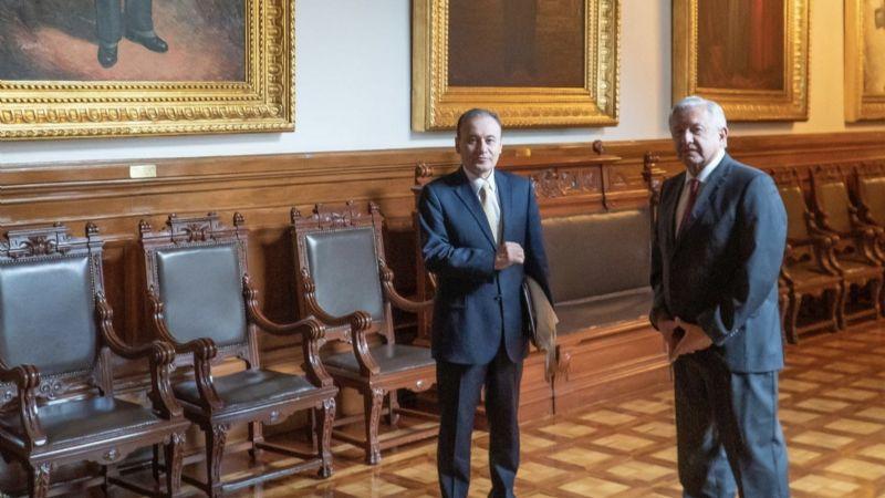 Energía solar y Puerto de Guaymas, los temas revisados por AMLO y Durazo en Palacio Nacional