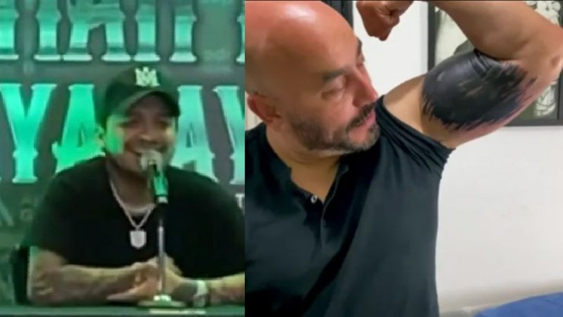 ¡Se ríe! Así reacciona Nodal al nuevo tatuaje de Lupillo para cubrirse rostro de Belinda: VIDEO