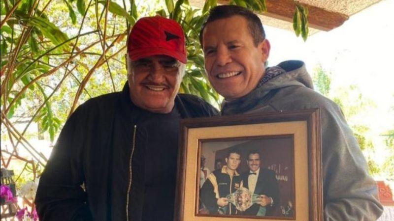 Duro golpe a 'Canelo' Álvarez: Vicente Fernández revela esto a Julio César Chávez