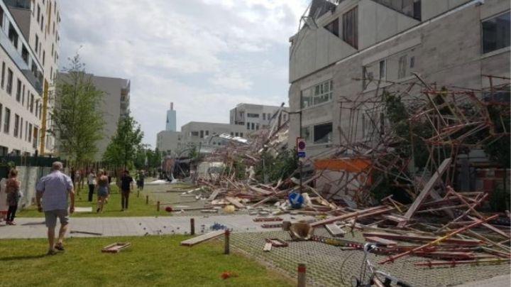 VIDEO: Construcción de escuela se derrumba en Bélgica; hay 2 muertos y 4 desaparecidos