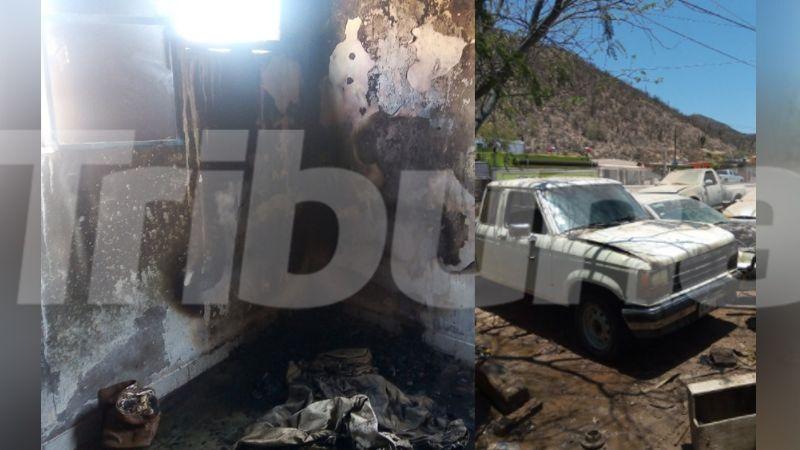 Ola de incendios en Empalme consume una vivienda y daña a un automóvil