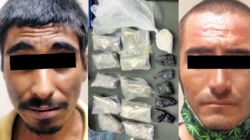 Detienen a dos sujetos en San Luis Río Colorado; 'tiraban' marihuana, cocaína y 'crystal'