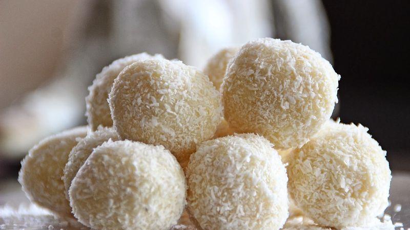 Estas deliciosas trufas de chocolate blanco y coco son el regalo ideal para este Día del Padre
