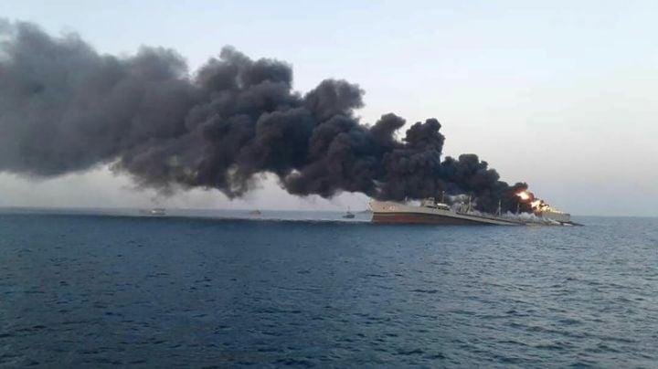 Pérdida histórica: Se hunde el barco más antiguo de la Armada iraní; hay 20 lesionados