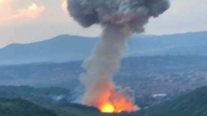 VIDEO: Fuerte explosión en almacén de pólvora deja 3 heridos en Serbia