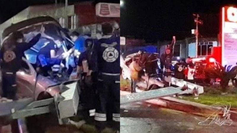 Tragedia: Jóvenes chocan y acaban prensados; herido gritaba de dolor y murió tras impactante rescate