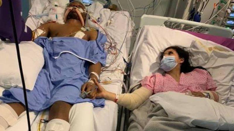 Chanté le toma la mano a su novio en sus últimos momentos de vida en una cama de hospital