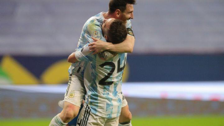 Sin mucho futbol, Argentina derrota a Paraguay y se mete a los cuartos de final