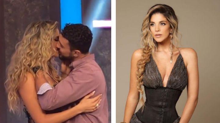 """""""Sienten a la señora"""": Tunden a Natalia Alcocer por comerse a besos a su nuevo novio en TV Azteca"""