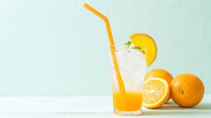 Acompaña tus comidas con este saludable refresco casero de naranja