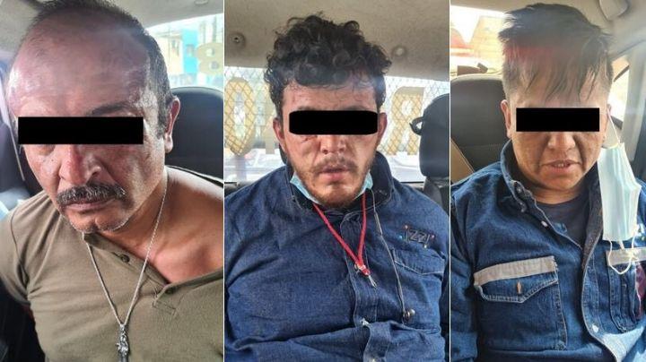 Detienen a 3 supuestos trabajadores de televisión de paga por secuestrar a una familia en el Edomex