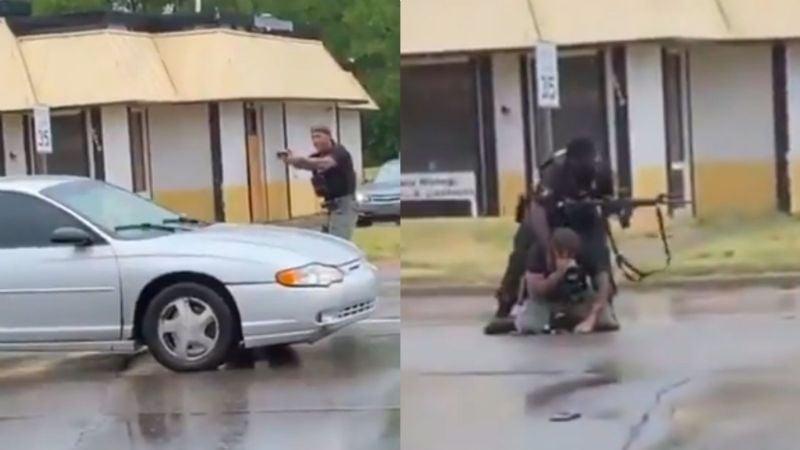 VIDEO: Oficial rompe en llanto tras matar a tiros a una joven que le disparó primero