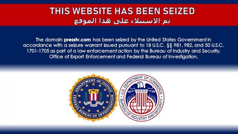 Departamento de Justicia de EU bloquea sitios web de medios iraníes de transmisión internacional