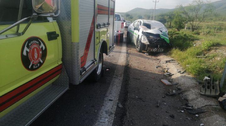 Trágico accidente: Taxista muere tras colisionar contra una camioneta; hay 2 lesionados más