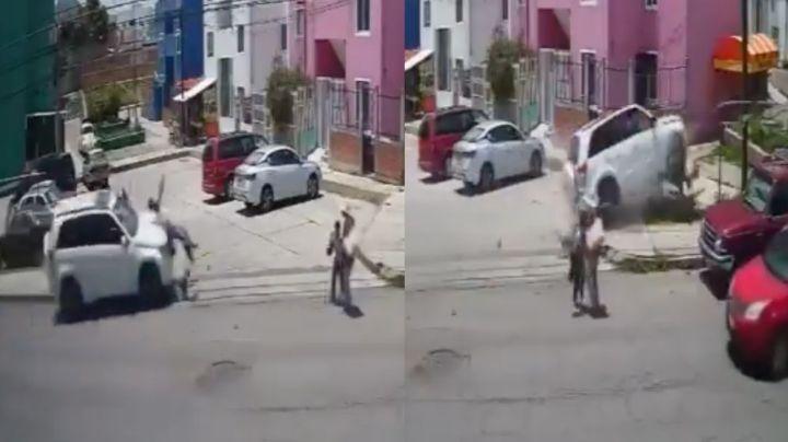 FUERTE VIDEO: Borracho atropella y mata a dos primos a plena luz del día; tenían 5 y 17 años