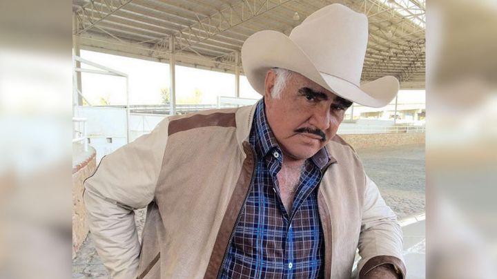 ¡Increíble! Con FOTO, Vicente Fernández presume a su mascota ¡y no se trata de un caballo!