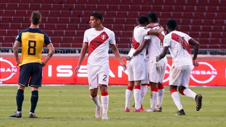 Perú le arruina el triunfo a Ecuador quien se encontraba con ventaja de 2-0