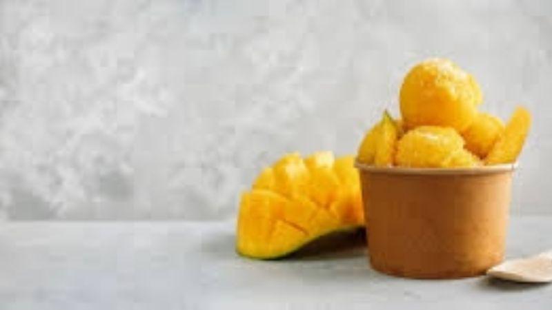 Disfruta de la temporada de mango con esta deliciosa y refrescante nieve