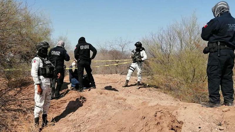 Hallan fosa clandestina en predio de Guaymas; hay restos humanos totalmente calcinados
