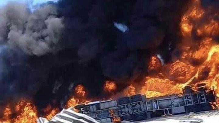 VIDEO: Así fue la impactante volcadura y explosión de una pipa de combustible en Tijuana