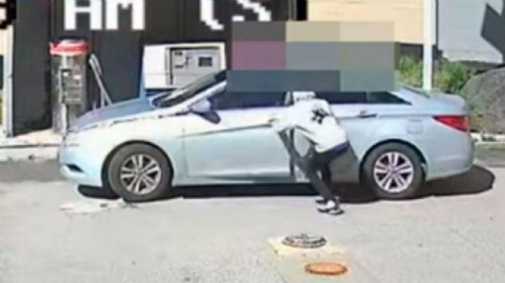 VIDEO: Adolescente de 15 años roba un vehículo con un niño de 2 años en el asiento trasero