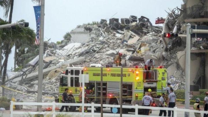 Aumenta a 5 la cifra de muertos en derrumbe de Miami; continúa la búsqueda de 156 desaparecidos