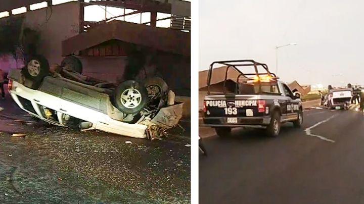 Camioneta termina llantas arriba en Ciudad Obregón; el chofer sería un policía jubilado