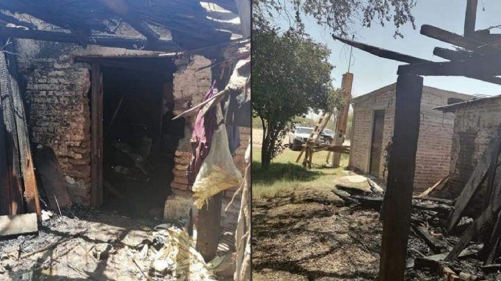 Sin misericordia: Sujetos incendian casa en Loma de Guamúchil; líder yaqui estaría dentro