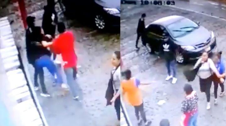 FUERTE VIDEO: Entre gritos y forcejeos, sicarios 'levantan' a Norma, dueña de restaurante