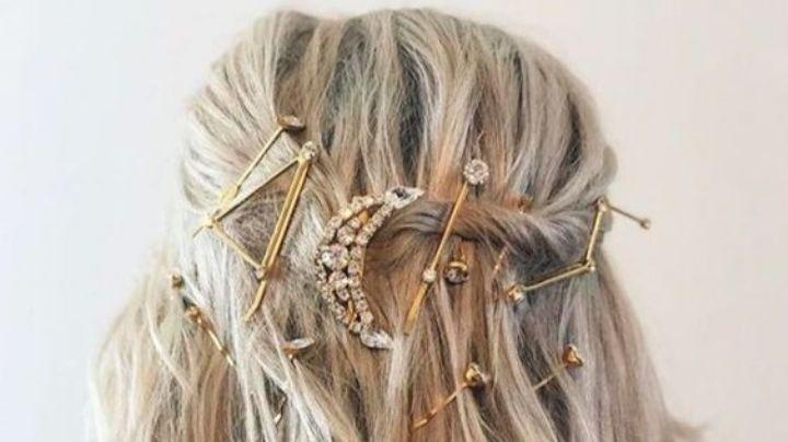 Luce espectacular con estos peinados para cabello corto con broche
