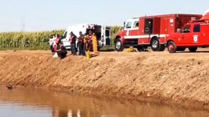 Encuentran cadáver esquelético en canal del Valle del Yaqui; llevaba meses bajo el agua