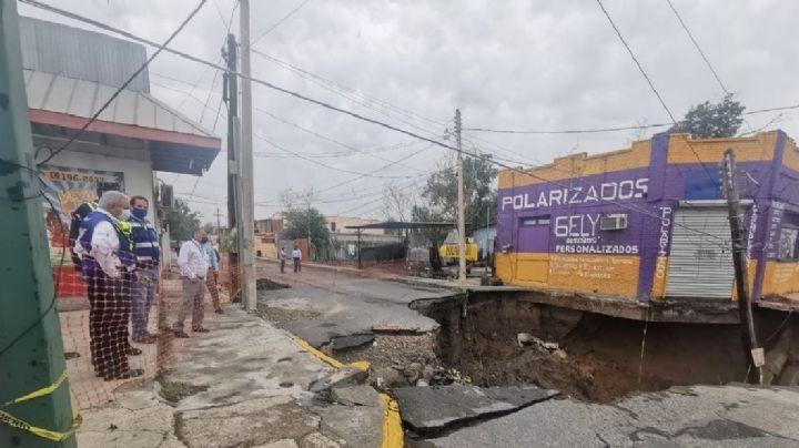 Se forma socavón de 20 metros de diámetro y 8 de profundidad en Tamaulipas