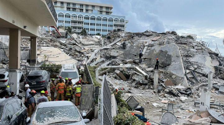 Trágico: Confirman 16 muertos por derrumbe en Miami; buscan a más de 100 desaparecidos