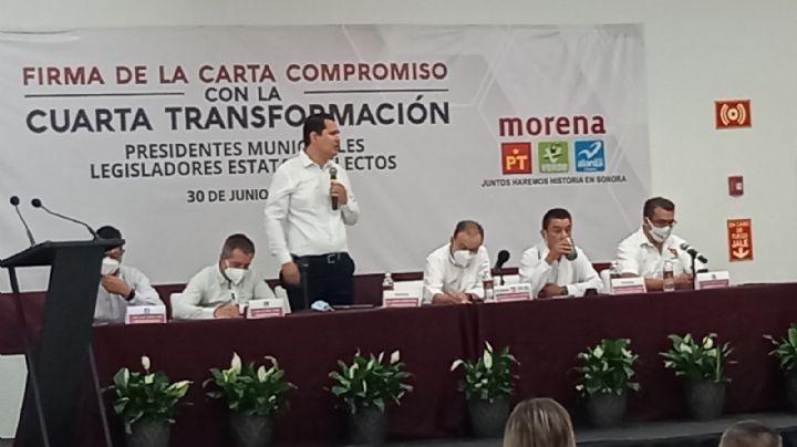 Alcaldes y legisladores de Morena en Sonora se comprometen con la Cuarta Transformación
