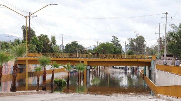 La historia de siempre en Cajeme: Primer lluvia de la temporada inunda el paso a desnivel