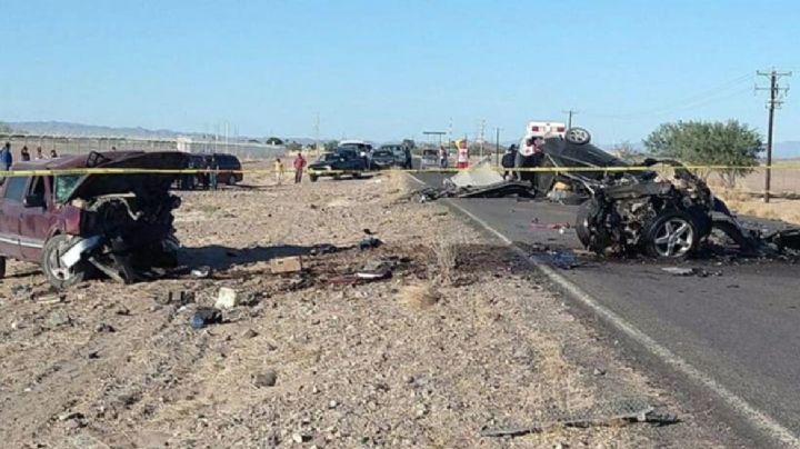 Tragedia en Caborca: Brutal accidente deja auto partido en dos; mueren todos los pasajeros