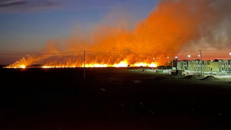 Realizan quema de gavilla en Ciudad Obregón; denuncian negligencia de Protección Civil