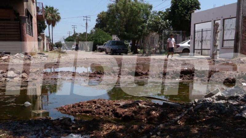 Cajeme: Vecinos de la ampliación Villa Fontana denuncian  mega drenaje colapsado