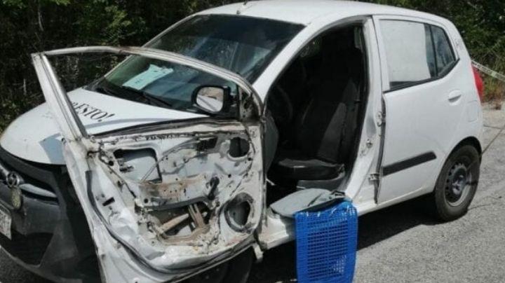 Camioneta embiste a repartidor de periódicos; quedó tirado y sin vida en la carretera