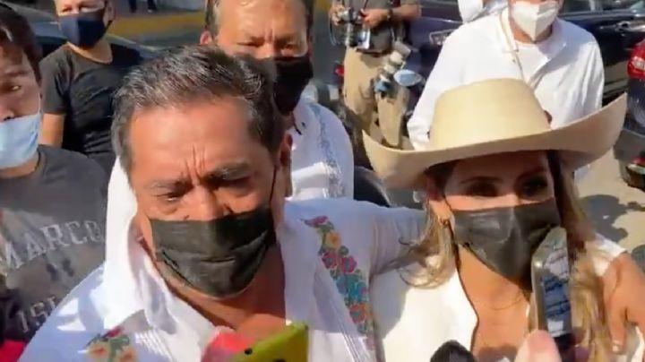Elecciones 2021: Félix Salgado Macedonio acude a votar con su hija, Evelyn, en Guerrero