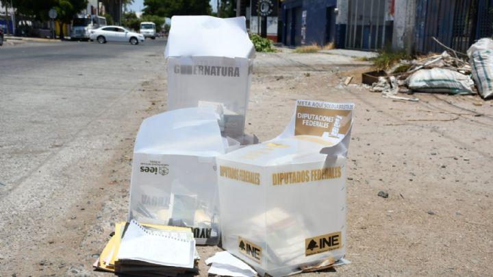 En Sinaloa: Abandonan las urnas robadas en casilla de Los Mochis; estaban cerca del lugar