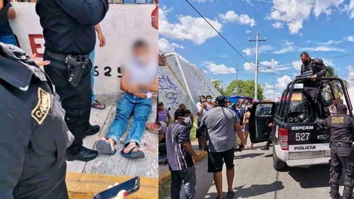 En plena fila para votar: Lanzan disparos y 2 jóvenes resultan lesionados; quedaron en la banqueta