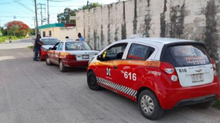 ¡Van por Campeche! Taxistas acarrean a votantes y les dan a cambio una torta