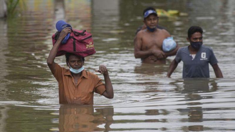 Sepultados y ahogados: Mueren 14 personas en Sri Lanka por lluvias torrenciales
