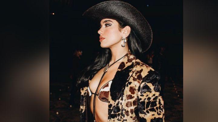 ¡Al puro estilo de Ángela Aguilar! Dua Lipa enamora a todo Instagram en 'outfit' vaquero