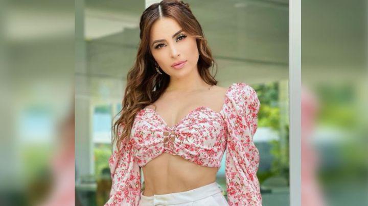 Cynthia Rodríguez engalana TV Azteca con colorido vestido que puso a suspirar a Carlos Rivera